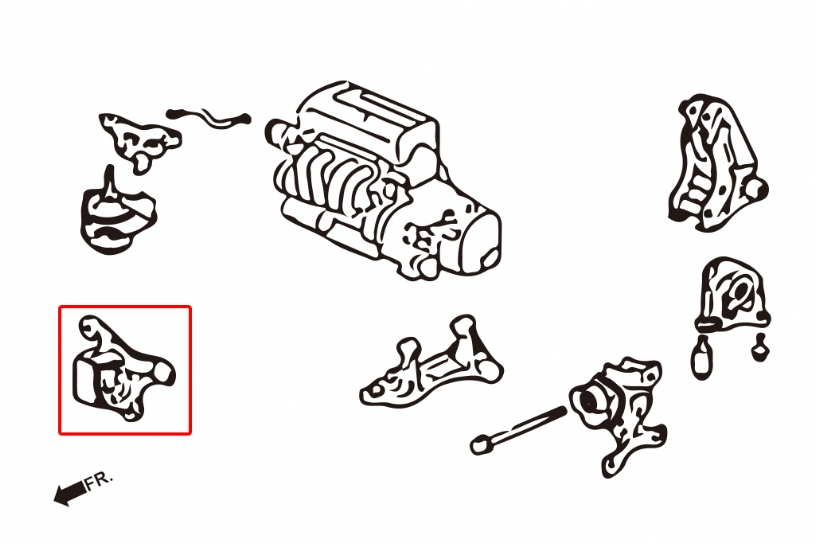 hardrace front engine mount  manual trans  02